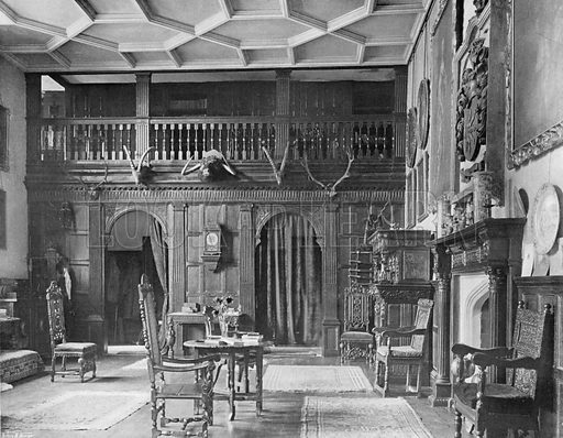 The Gallery Hall. Photograph for In English Homes Vol II (Country Life, 1907).