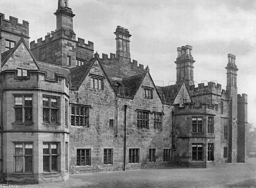 The Old North-West Front. Photograph for In English Homes Vol II (Country Life, 1907).