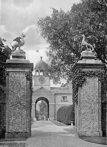 The Way In. Photograph for In English Homes Vol II (Country Life, 1907).