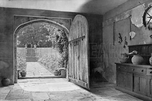To the West Garden. Photograph for In English Homes Vol II (Country Life, 1907).