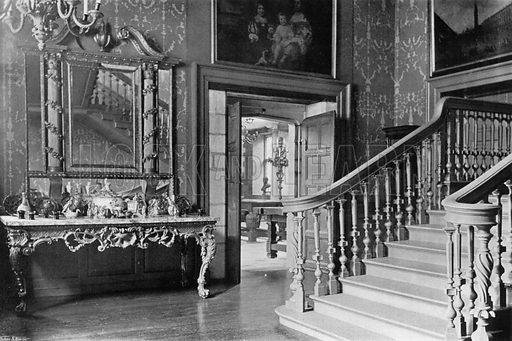 A Georgian Staircase. Photograph for In English Homes Vol II (Country Life, 1907).