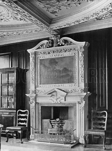 In the Dining Parlour. Photograph for In English Homes Vol II (Country Life, 1907).