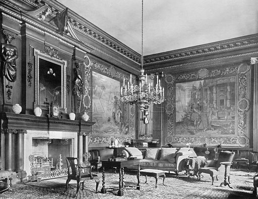 The Front Hall. Photograph for In English Homes Vol II (Country Life, 1907).
