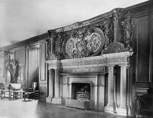 In the Long Gallery. Photograph for In English Homes Vol II (Country Life, 1907).