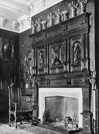 In the China Room. Photograph for In English Homes Vol II (Country Life, 1907).