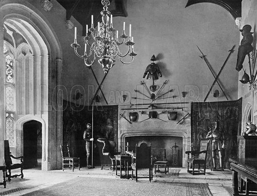 The Great Hall. Photograph for In English Homes Vol II (Country Life, 1907).
