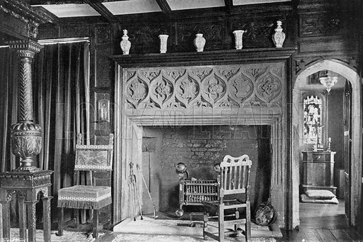 Oratory in State Chamber. Photograph for In English Homes Vol II (Country Life, 1907).