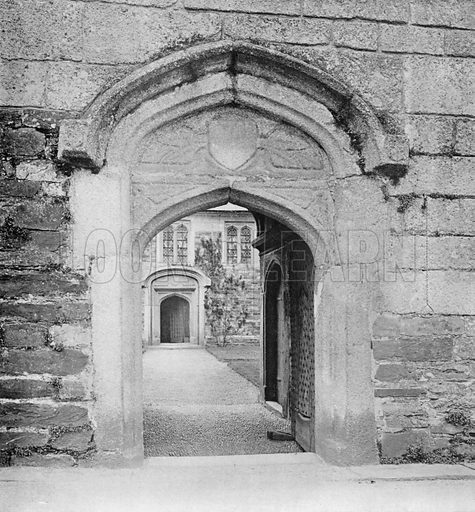 Gate of Granite. Photograph for In English Homes Vol II (Country Life, 1907).
