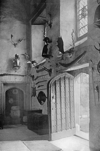 Hall Entrance. Photograph for In English Homes Vol II (Country Life, 1907).