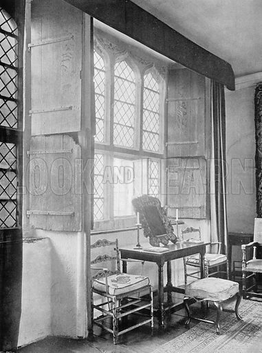 Part of the South Room. Photograph for In English Homes Vol II (Country Life, 1907).