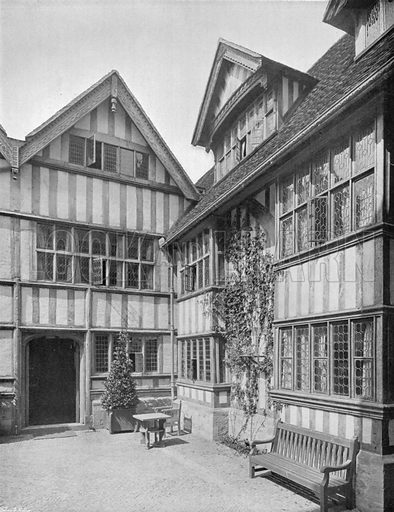 The Timber-Framed Courtyard. Photograph for In English Homes Vol II (Country Life, 1907).