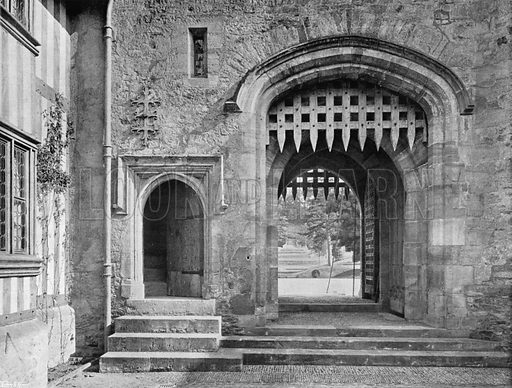 Within the Courtyard. Photograph for In English Homes Vol II (Country Life, 1907).