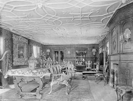 The Withdrawing-Room. Photograph for In English Homes Vol II (Country Life, 1907).