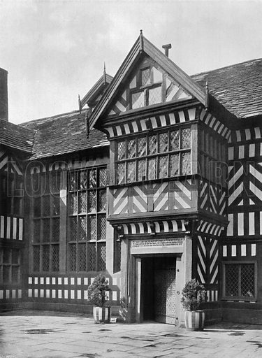 Porch in the Quadrangle. Photograph for In English Homes Vol II (Country Life, 1907).