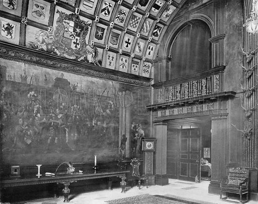 The Fresco, North Corner of the Hall. Photograph for In English Homes Vol II (Country Life, 1907).