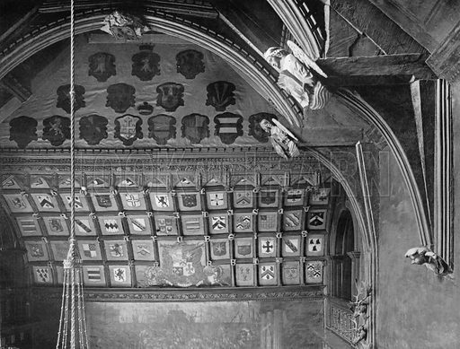 Roof of the Hall. Photograph for In English Homes Vol II (Country Life, 1907).