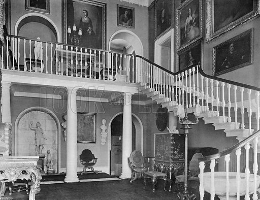 South Hall. Photograph for In English Homes Vol II (Country Life, 1907).
