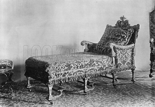 Day Bed to Match. Photograph for In English Homes Vol II (Country Life, 1907).