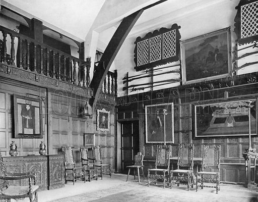 The Old Hall. Photograph for In English Homes Vol II (Country Life, 1907).