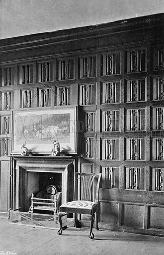 Quaint Panelling. Photograph for In English Homes Vol II (Country Life, 1907).
