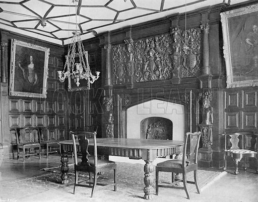The Dining-Room, Date 1564. Photograph for In English Homes Vol II (Country Life, 1907).
