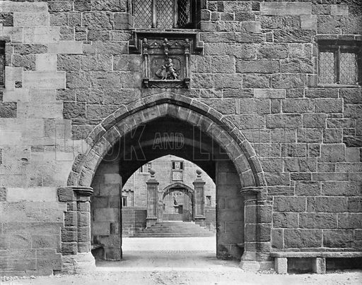 The Outer Gateway. Photograph for In English Homes Vol II (Country Life, 1907).
