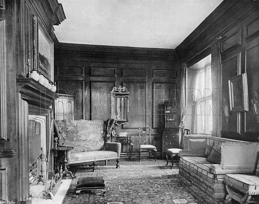 West End of the Boudoir. Photograph for In English Homes Vol II (Country Life, 1907).