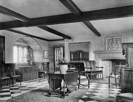 The King's Hall. Photograph for In English Homes Vol II (Country Life, 1907).