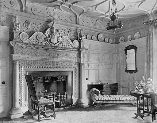 The White Parlour. Photograph for In English Homes Vol II (Country Life, 1907).