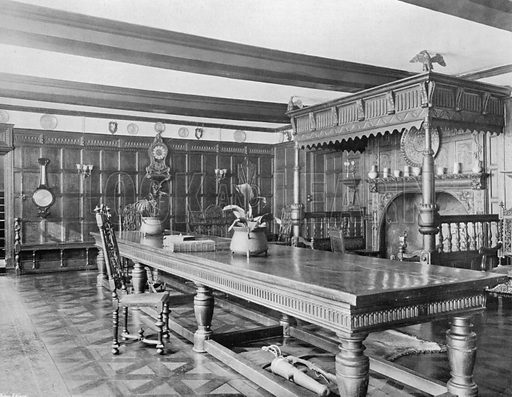 The Entrance Hall. Photograph for In English Homes Vol II (Country Life, 1907).