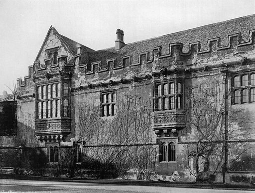 Gothic Work at St. John's College, Oxford. Photograph for In English Homes Vol II (Country Life, 1907).