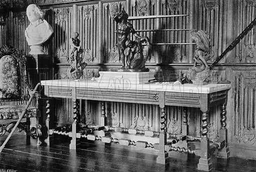 Panelling at the Vyne, Hampshire. Photograph for In English Homes Vol II (Country Life, 1907).