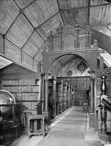 The Library of Merton College, Oxford. Photograph for In English Homes Vol II (Country Life, 1907).
