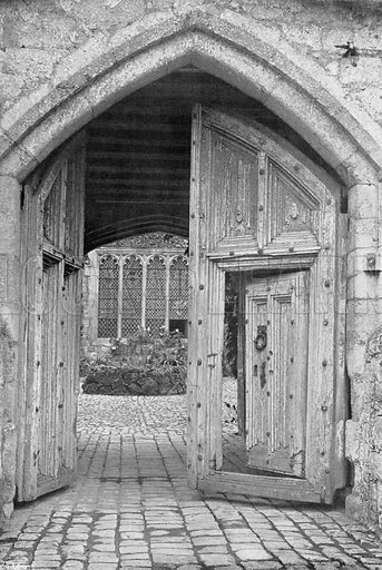 The Entrance. Photograph for In English Homes Vol II (Country Life, 1907).