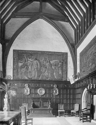 The Hall from Entrance. Photograph for In English Homes Vol II (Country Life, 1907).
