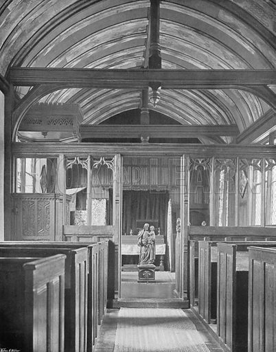 The Chapel. Photograph for In English Homes Vol II (Country Life, 1907).