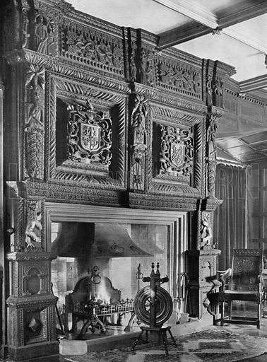 The Drawing-Room Chimney-Piece. Photograph for In English Homes Vol II (Country Life, 1907).