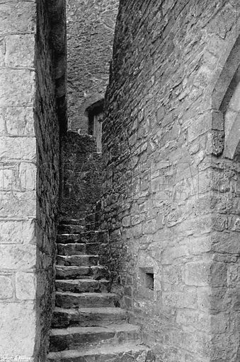 Stairway to Chapel & Ramparts. Photograph for In English Homes Vol II (Country Life, 1907).