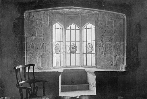 Oriel of Porch Chamber. Photograph for In English Homes Vol II (Country Life, 1907).
