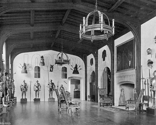 The Armoury. Photograph for In English Homes Vol II (Country Life, 1907).