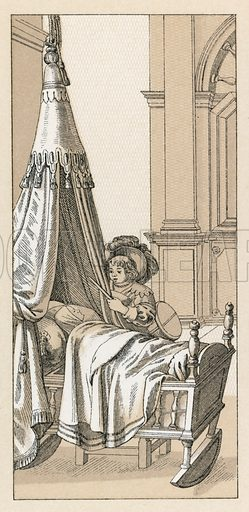 Europe XVIIth Cent Costume. Illustration for Le Costume Historique by M A Racinet (Firmin Didot, 1888). High definition scan from special unbound folio edition.