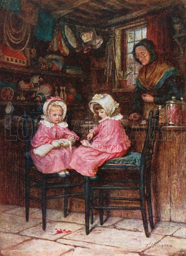 The Young Customers. Illustration for Happy England by Marcus B Huish (A & C Black, 1909).