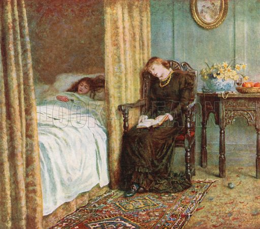 The Convalescent. Illustration for Happy England by Marcus B Huish (A & C Black, 1909).