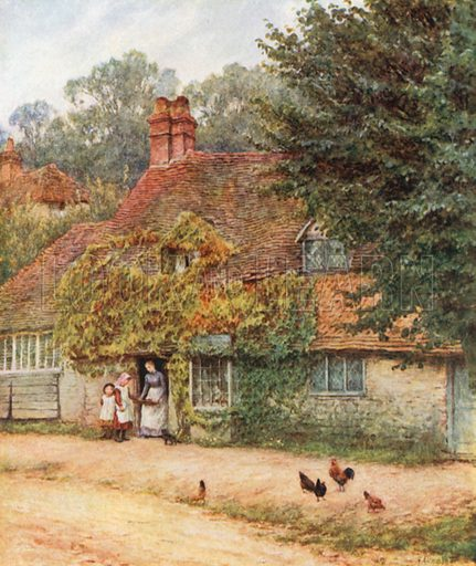 The Fish-Shop, Haslemere. Illustration for Happy England by Marcus B Huish (A & C Black, 1909).