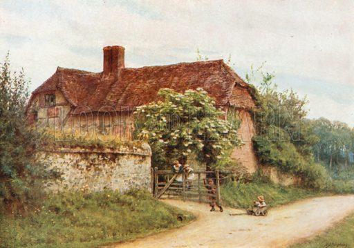 The Elder Bush, Brook Lane, Witley. Illustration for Happy England by Marcus B Huish (A & C Black, 1909).