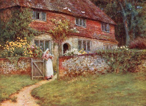 Valewood Farm. Illustration for Happy England by Marcus B Huish (A & C Black, 1909).