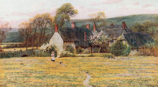 Duke's Cottage. Illustration for Happy England by Marcus B Huish (A & C Black, 1909).