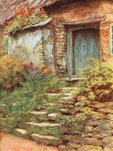 The Condemned Cottage. Illustration for Happy England by Marcus B Huish (A & C Black, 1909).
