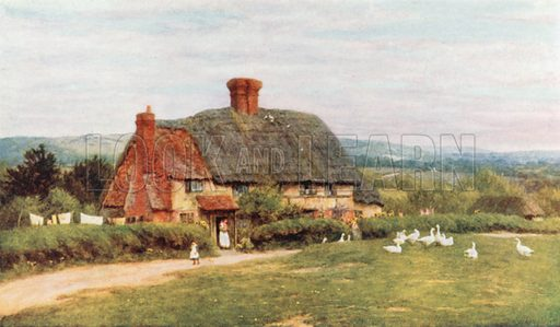 On Ide Hill. Illustration for Happy England by Marcus B Huish (A & C Black, 1909).