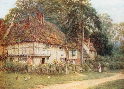 The Six Bells. Illustration for Happy England by Marcus B Huish (A & C Black, 1909).